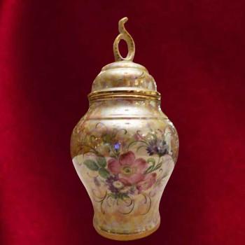 Vase en faïence Italienne          Deruta de l'ombrée