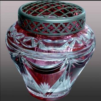 Vase en cristal de Boom noir doré or 24 carats