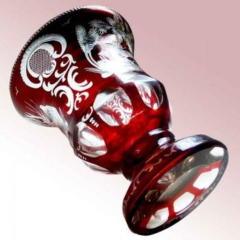 Vaso in cristallo Val Saint Lambert Joseph Simon XX