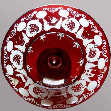 Vase en cristal, Val Saint Lambert Joseph Simon XX