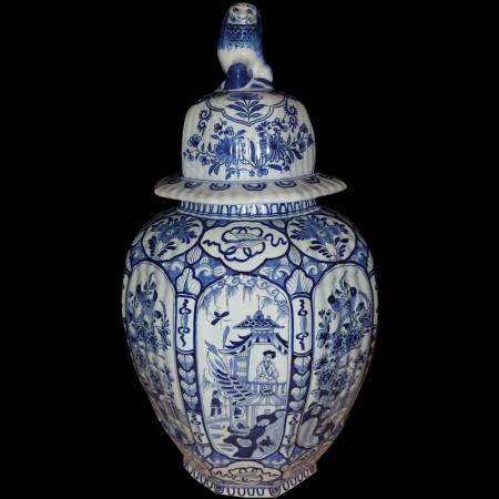 Limoge-Daniel Moreaux-soupière-légumier en porcelaine au joli décor floral entouré de galon peint à l'or-