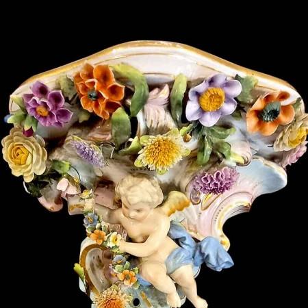 Vase Scheffel en cristal du Val Saint Lambert Signé
