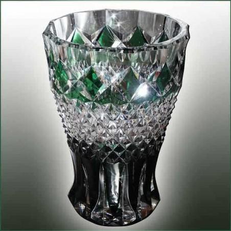 Vase en cristal du Val Saint Lambert art déco