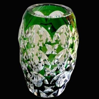 Vase en cristal du Val Saint Lambert Belgique signe