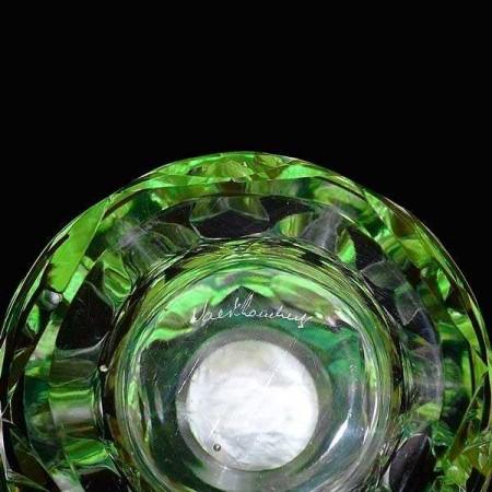 Vase en cristal du Val Saint Lambert signe