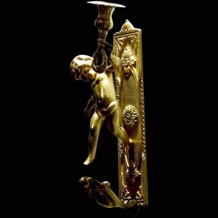 Paire d'appliques en bronze dore 19eme siecle
