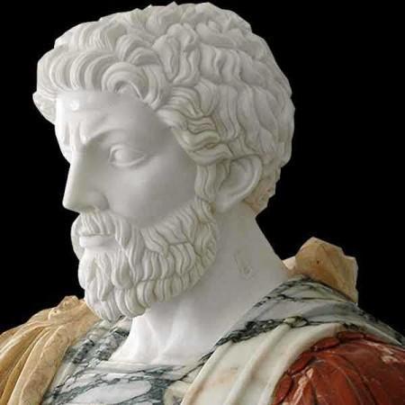 Busto in marmo di Marco Aurelio 1925