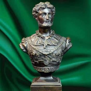 19th century bronze bust sculpture signed