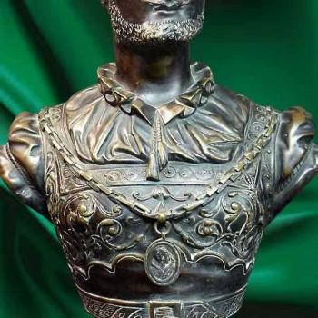 Busto en bronce del siglo XIX firmado.