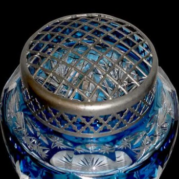 crystal vase val saint lambert 1920