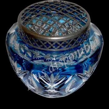 vaso di cristallo val saint lambert 1920