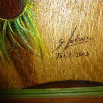 Painting of figurative style Ledoux Gisele signed