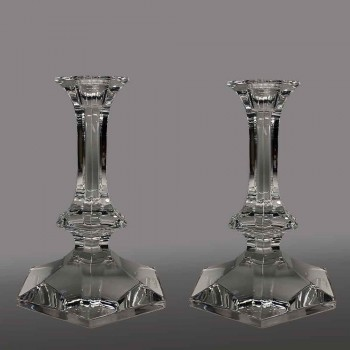 Candelabros Elysée en cristal val saint lambert