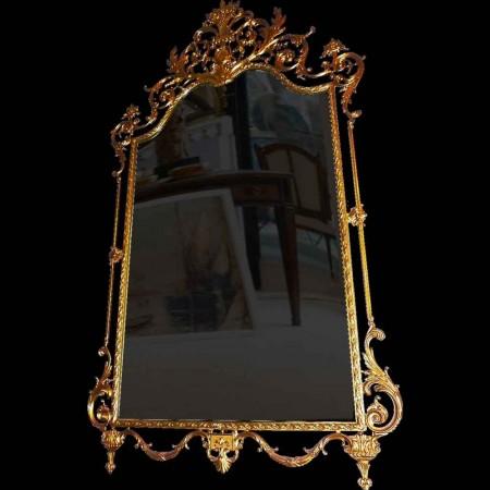 Louis XVI-stijl spiegel in verguld brons 19e eeuw