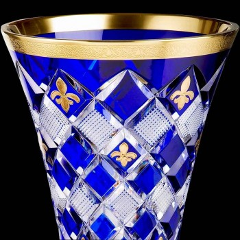 French crystal and gold crystal vase