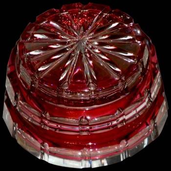 Crystal candlestick Val Saint Lambert Art Deco