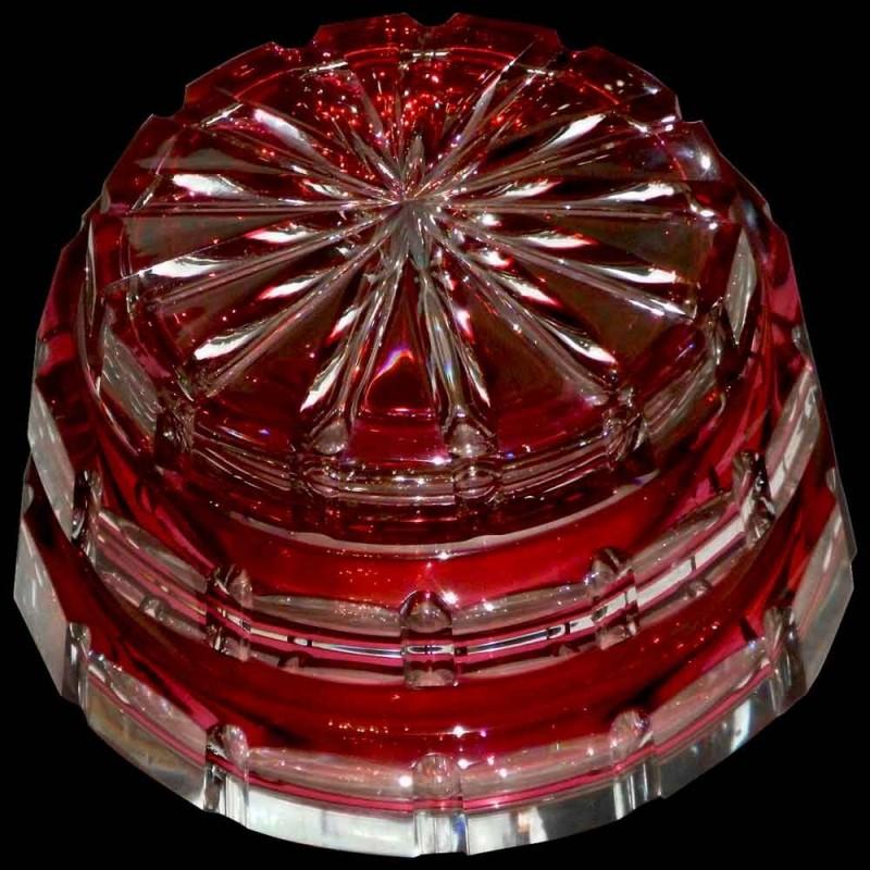 Bonbonnière en cristal Val Saint Lambert Art Déco