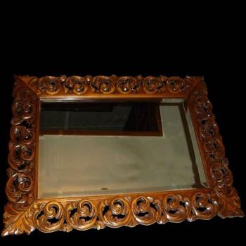 Barockspiegel aus Holz geschnitzt XIX Jahrhundert