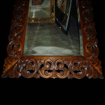 Baroque mirror in carved wood XIX century