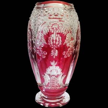 Florero de cristal Val Saint Lambert Joseph Simon 40 cm