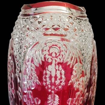 Vase en cristal Val Saint Lambert Joseph Simon 40 cm