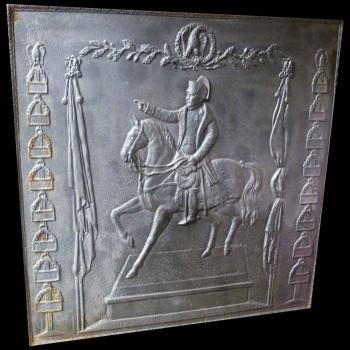 Emperor Napoleon cast iron fireback 1