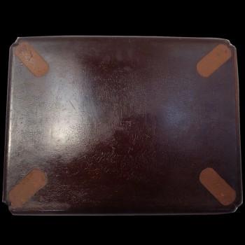 Napoleon III tray with romantic decoration, boiled cardboard