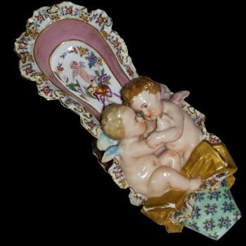 Porcellana Meissen policroma e oro del XVIII secolo