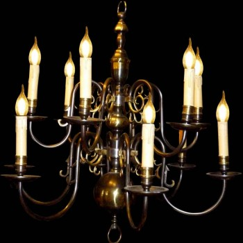 19th century bronze chandelier