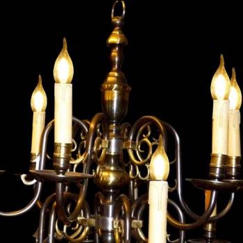 19th century bronze chandelier