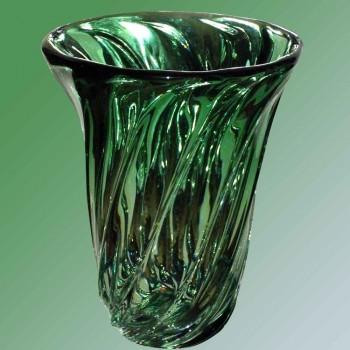 Crystal vase Val Saint Lambert 1950