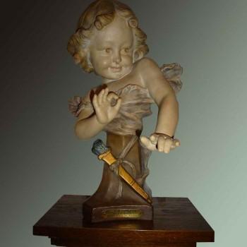 """Terracotta sculptuur """"Aristide de Raniéri"""" 1880/1914"""