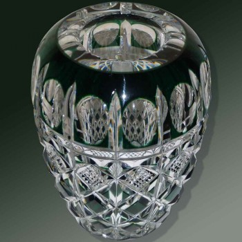 Florero de cristal Val Saint Lambert Firmado Charles Graffart