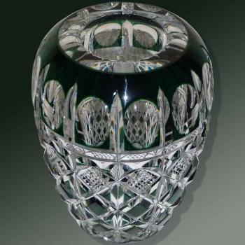 Vaso di cristallo Val Saint Lambert firmato Charles Graffart