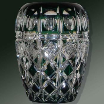 Crystal vase Val Saint Lambert Signed Charles Graffart