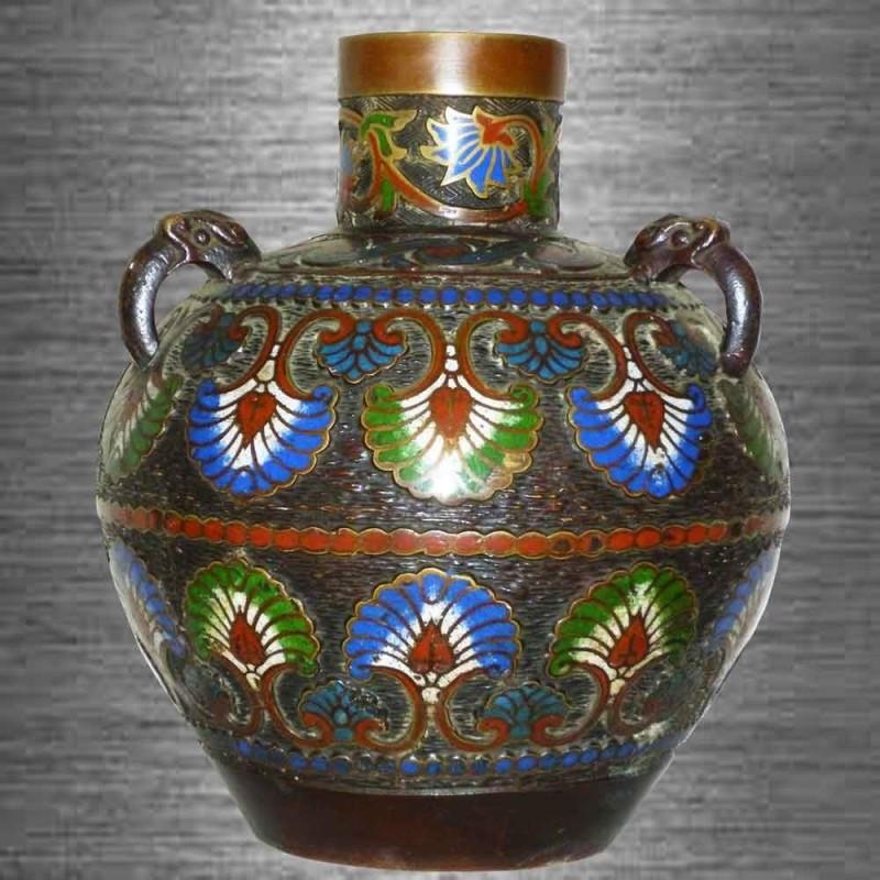 jarrón septado Meiji Japón siglo 19