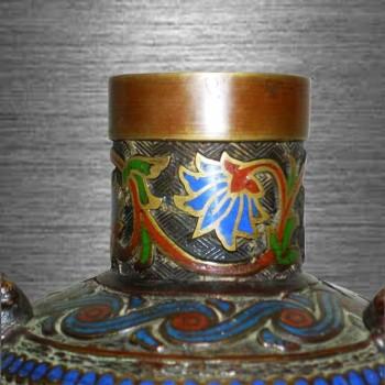 vaso settato Meiji Giappone 19 secolo
