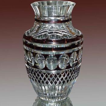 Val Saint Lambert Charles Graffart vaso in cristallo firmato