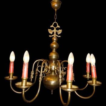 Dutch chandelier in bronze XIX century