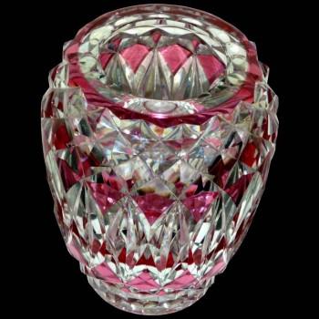 Vaso en cristal val saint Lambert signé.