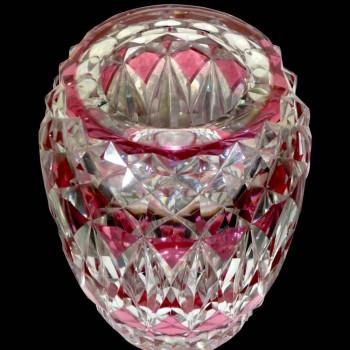 Vase en cristal val saint Lambert signé.