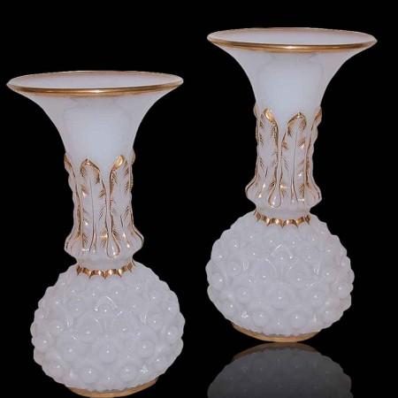 Paar Baccarat-vazen uit de 19e eeuw