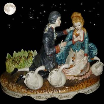 porcellana capo di monte il romantico