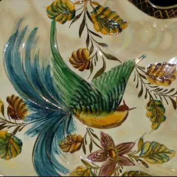 beker, middelste tafel geëmailleerd geverfd (België) Art Deco, gesigneerd, gestempeld
