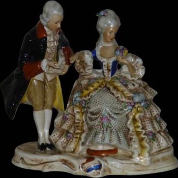 colección porcelana sajonia alemana del siglo XIX firmada y fechada 1859 Karl Schnider