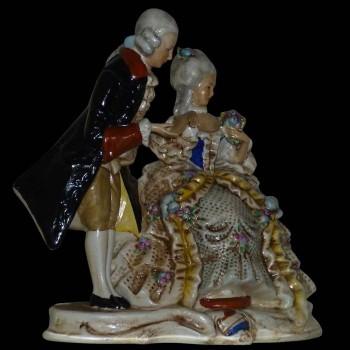 collectie porselein Duitse Saksen XIX eeuw gesigneerd en gedateerd 1859 Karl Schnider