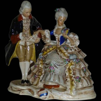 porcelaine de collection Allemande saxe XIX siècle signée et datée 1859 Karl Schnider