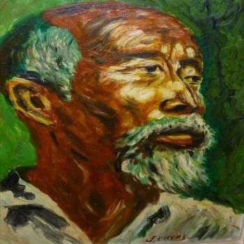 Huile sur toile, tableau, portrait orientaliste XXeme siècle
