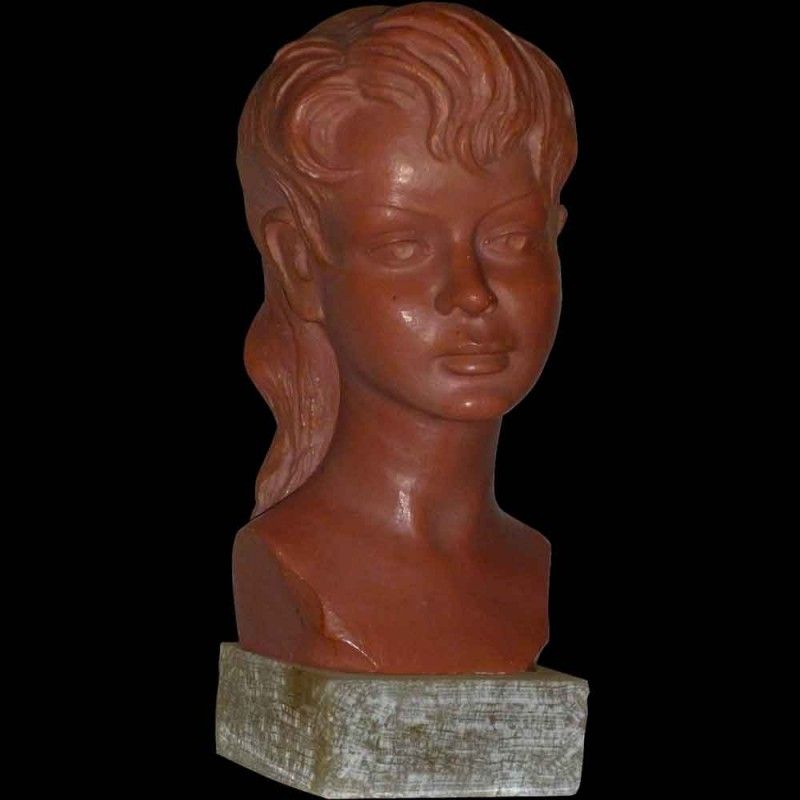 Bust of a young girl signed G. Carli