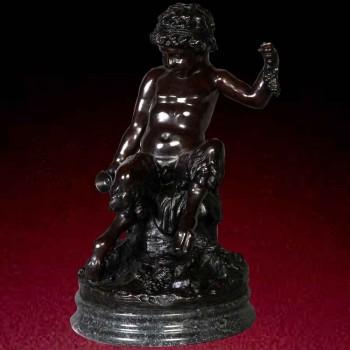 Gran bacchus estatua de bronce del siglo XIX